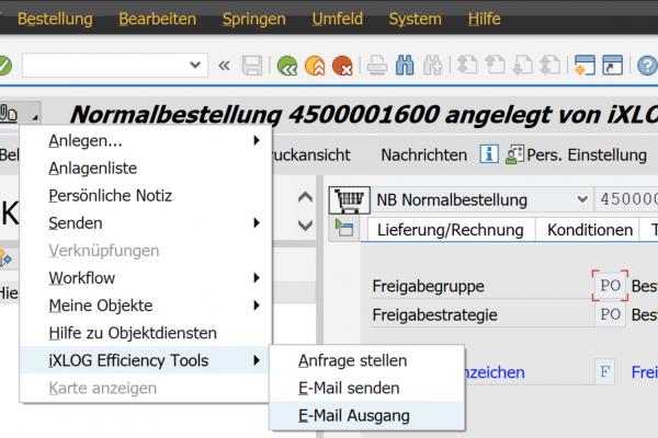 Mailversand generische Objektdienste E-Mail Ausgang